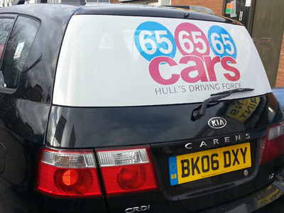 Van Rear Graphics (65 Cars)