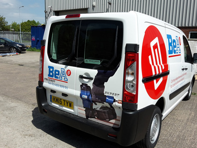 Van Rear Graphics (BeA)