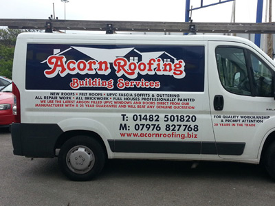 Van Side Graphics (Acorn Roofing)