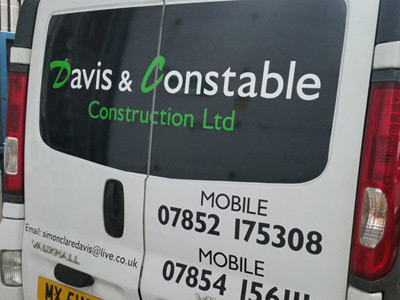 Van Rear Graphics (Davis and Constable)