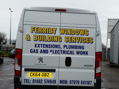 Van Rear Graphics (Ferriby Windows)