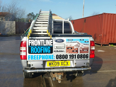 Van Rear Graphics (Frontline Roofing)