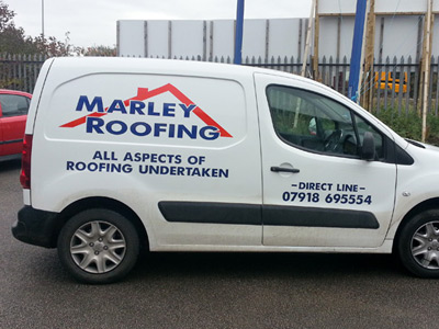 Van Side Graphics (Marley Roofing)