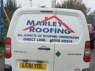 Van Rear Graphics (Marley Roofing)