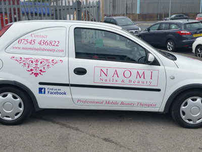 Van Side Graphics (Naomi Nails and Beauty)