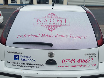 Van Rear Graphics (Naomi Nails and Beauty)