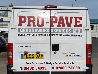 Van Rear Graphics (Pro Pave)