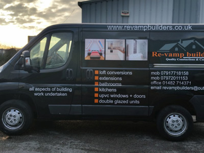 Van Side Graphics (Re-Vamp Builders)