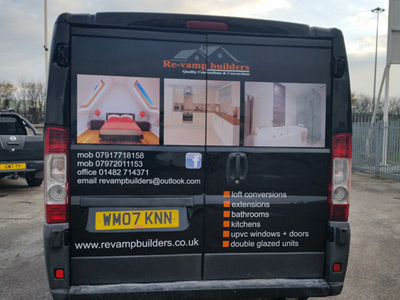Van Rear Graphics (Re-Vamp Builders)
