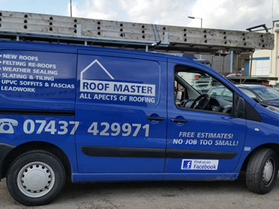 Van Side Graphics (Roof Master)