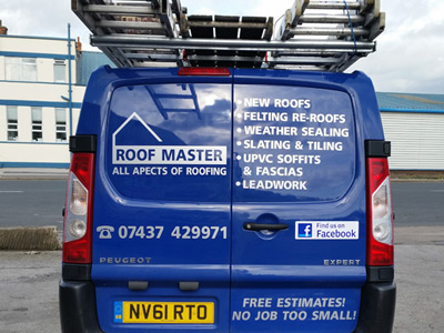 Van Rear Graphics (Roof Master)