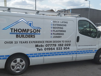 Van Side Graphics (Thompson Builders)