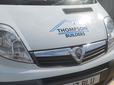 Van Front Graphics (Thompson Builders)