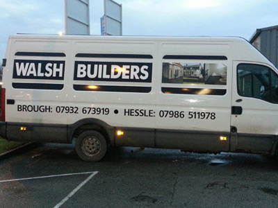 Van Side Graphics (Walsh Builders)