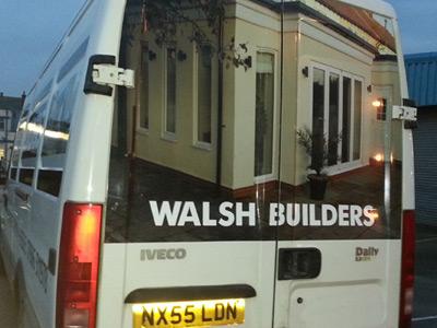 Van Rear Graphics (Walsh Builders)